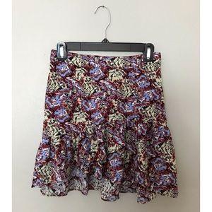 Free People ruffle mini skirt in peach pop